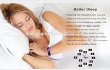 smart bracelet health sleep monitoring/waterproof sport watch /pedometer BT4.0 newest smart bracelet
