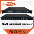 Qam hd modulador con scrambler funtion 8 * sintonizador para DVB-S / S2 formato