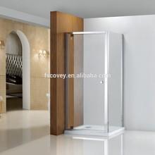 Square pivot shower door/pivot shower enclosure with side panel for bathroom CVS27A-1