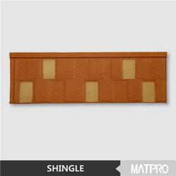 synthetic spanish villa sun stone coated metal roof tile