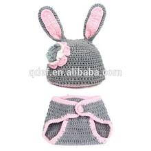 Wholesale cotton comfortable crochet bunny costume infant,newborn photo props ,newborn baby photos of costumes bunny