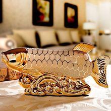 Home fashion pottery ornaments ornaments creative upscale married couple Arowana celebration gift