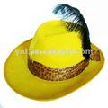 parte sombrero de vaquero con pluma
