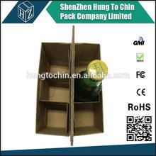 Bottle 6 carrier beer box cardboard packing