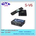 Mini receptor de satélite digital s v6 com av2xusb web tv wifi usb key biss s-v6