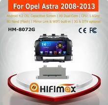 HIFIMAX Android 4.4.4 opel astra j car radio/car mirror link for opel astra j car navigation 2008-2013
