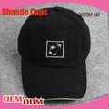 Customed 6 painel boné de veludo padrão/bastão de beisebol tampão de extremidade