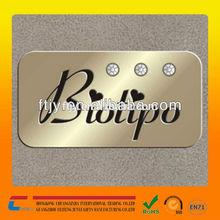 silk screen custom metal logos brand tag