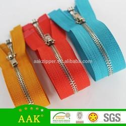 #3 White Brass zipper custom zipper slider designer zipper pin and box