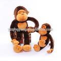 diferentes tamanho personalizado animal de pelúcia macia do luxuoso brinquedo do macaco