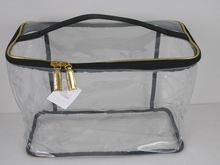 Transparent PVC Train Case, PVC Cosmetic Pouch