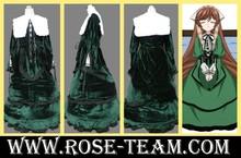 Sunshine-Rozen Maiden Suiseiseki Jade Stern green dress uniform Clothes Manga Amime Cosplay Costume halloween Christmas Party