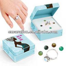 Healing Crystal Women Fishion Rings Gift Sets