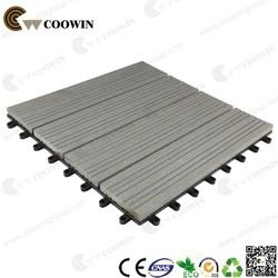 Coowin DIY Patio Outdoor Deck Tile Composite Decking Tile (Gray 11 pack)