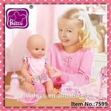 16 polegada Baellar cascata silicone renascer baby doll com musical potty