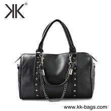 Wholesale handbag china manufacturer 2015 rivet leather women shoulder bags chain strap handbags