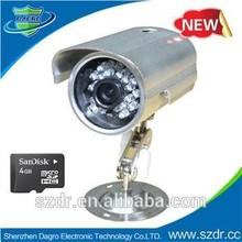 Cheapest CCTV Camera 24pcs IR LEDs Cmos CIF Digital Support Micro Sd Card waterproof cctv camera