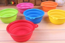 Colorful Food Grade Eco-friendly Silicone Collapsible/Foldable Pet Water/Food Bowls With High Quality