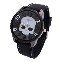 Ghost head skull silicone watches Europe and the United States men's sports personality big dial watch