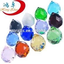 Shinning hanging crystal facet ball chandelier pendants