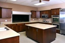 Russia solid stone surface kitchen cabinet