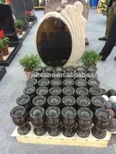 Caliente la venta de granito negro cementerio jarrones