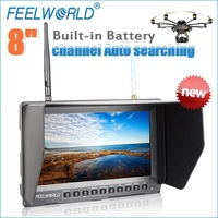 "8"" FPV monitor with DC output used for rc helicopter battery for best sight"