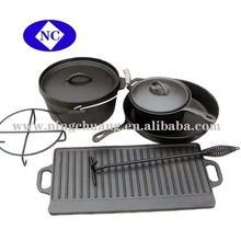 8 PCS Cookware Set Cast Iron