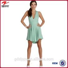 China online shopping women clothes mint dress for women