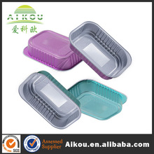 High quality microwaveable ovenable aluminum foil food tray with lid