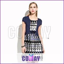 Silk Customized 2015 Digital Printing hand work dress