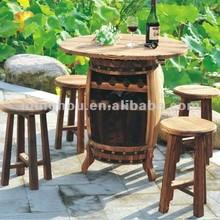 屋外用家具テーブルワイン樽