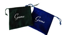 Double Sides Printing Fabric Coin Purse Velvet Money Bag