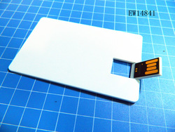 personalized flat and plastic card usb