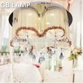 branco brilhante de cristal da lâmpada do teto levou luz de teto montagem para casa