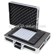 Black Aluminum Custom Instrument Case with Foam Padding