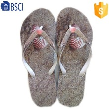 2015 latest 3D film cover slippers PVC strap flip flops for men/women
