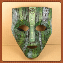 Eco-friendly resin life size loki mask for Halloween party cosplay