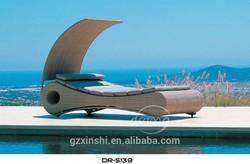 special design rattan sun bed/ outdoor furniture/ sun lounger