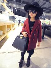 BZ-729[ Girl ] Petty retro extreme high-end children's clothing woolen fabric coat woolen coat