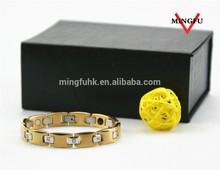 healthy germanium magnetic special plated gold slave bracelet