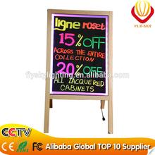 alibaba express wood stand led writing board shops sales promotion catching eyes & super brightness saving energy