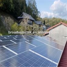aluminum rail and clamp solar panels