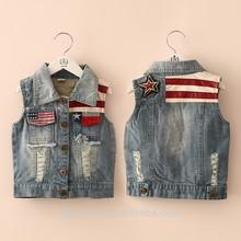 Wt-2722 wholesale fashion children spring child clothes kids clothing boys Korean new sleeveless button sweater vest