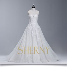 Sherny Bridals Supported Custom Wholesale Wedding Dresses Long Tail