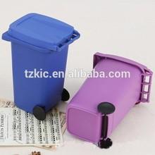 Recycled Plastic mini dustbin for school desk tidy bin