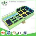 Fabricante profissional de acordo com seu tamanho do quarto interior trampolim parque com espuma pit, dodge bola, aro de basquetebol