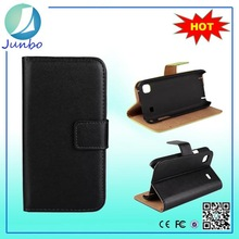 Genuine flip cover leather wallet case for samsung galaxy core i8262
