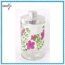 coffee tea sugar glass storage printing glassware