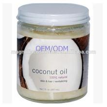 Natural cold pressed virgin coconut oil